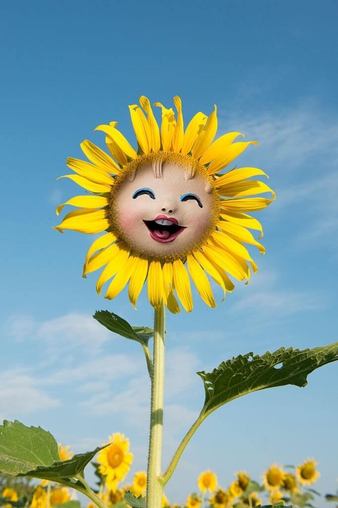 Gambar Bunga Matahari Animasi